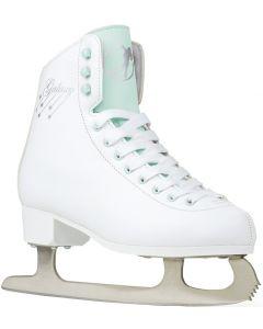 SFR Galaxy Cosmo White / Green Figure Ice Skates