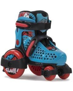 SFR Stomper Blue Boys Adjustable Tri Roller Skates