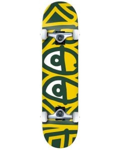 """Krooked """"Big Eyes Too"""" Complete Skateboard - Yellow 7.3"""""""