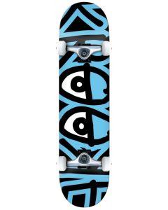 """Krooked """"Big Eyes Too"""" Complete Skateboard - Blue 7.5"""""""