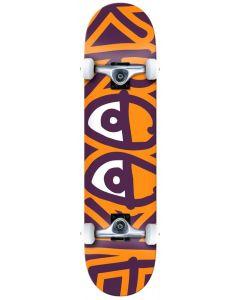 "Krooked ""Big Eyes Too"" Complete Skateboard - Orange 8.25"""