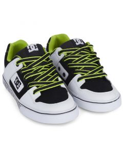 DC Pure Low Rise Skate Shoes - White / Black / Green
