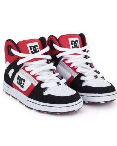 DC Rebound Skate Shoes - Black / Red / White