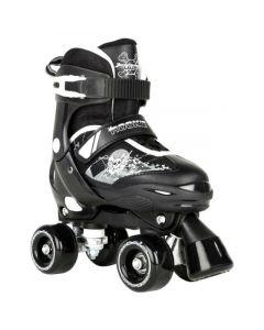 Rookie Adjustable Quad Roller Skates Pulse Black / White