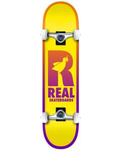 """Real Be Free 7.75"""" Complete Skateboard - Yellow"""