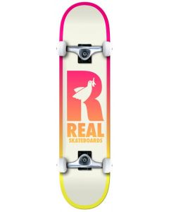 """Real Be Free 8"""" Complete Skateboard - White / Pink"""