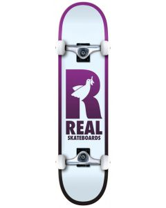 """Real Be Free 8.25"""" Complete Skateboard - White / Purple"""