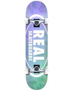 "Real Island Ovals 8"" Complete Skateboard - Blue / Purple"
