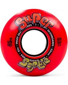 Enuff Super Softie 85a Skateboard Wheels - Red