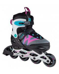 Skatelife Motion Adjustable Inline Skates - Black / pink