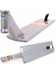 "TSI Satellite V2 Scooter Deck - Raw Silver Chrome - 22.5"" x 5.75"""