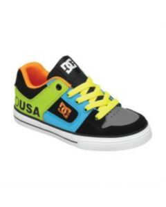 DC Pure Tropical Skate Shoes - Black / Orange / Blue
