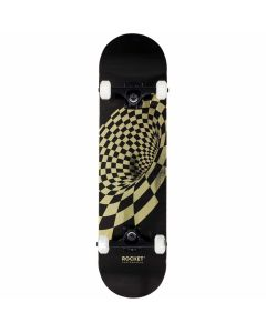 """Rocket Vortex Foil Gold Complete Skateboard - 31.5"""" x 8"""""""
