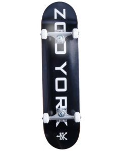 "Zoo York Logo Block Black / White Complete Skateboard - 31.5""  x 8"""