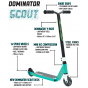 Dominator Scout 2021 Complete Scooter - Teal / Black