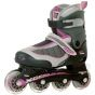Xcess MX S1000 Black Grey Lilac Adjustable Inline Skates / Rollerblades