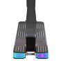 "Triad Diablo Pro Stunt Scooter Deck - Black / Neochrome Oil Slick Rainbow - 22"" x 5.1"""