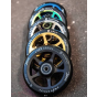 Drone Luxe Series 120mm Scooter Wheel - Black / Black