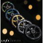 Drone Luxe Series 120mm Scooter Wheel - Black / Neochrome Oil Slick