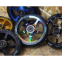 Drone Luxe Series 120mm Scooter Wheel - Black / Blue