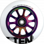Lucky Ten 110mm Scooter Wheel - White / Neochrome