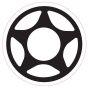 Proto Logo Sticker - White