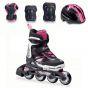 Rollerblade 2016 Cube Inline Skates & Protection Pack - Black / Pink