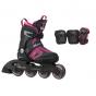 K2 Marlee Pro Adjustable Inline Skates & Protection Pack - Black / Pink