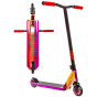 Crisp Switch 2020 Complete Stunt Scooter - Chrome Purple / Orange / Red & Black