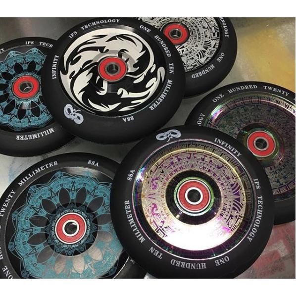 Infinity Polynesian 110mm Blue Scooter Wheel | Skates.co.uk