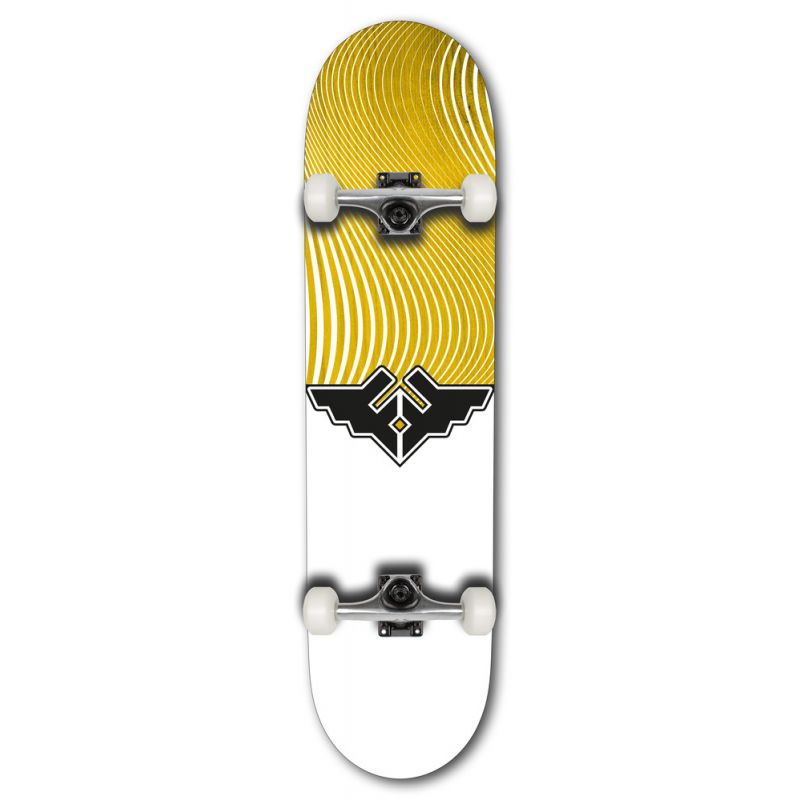 """Fracture Wings V4 Series Complete Skateboard - Yellow 8"""""""