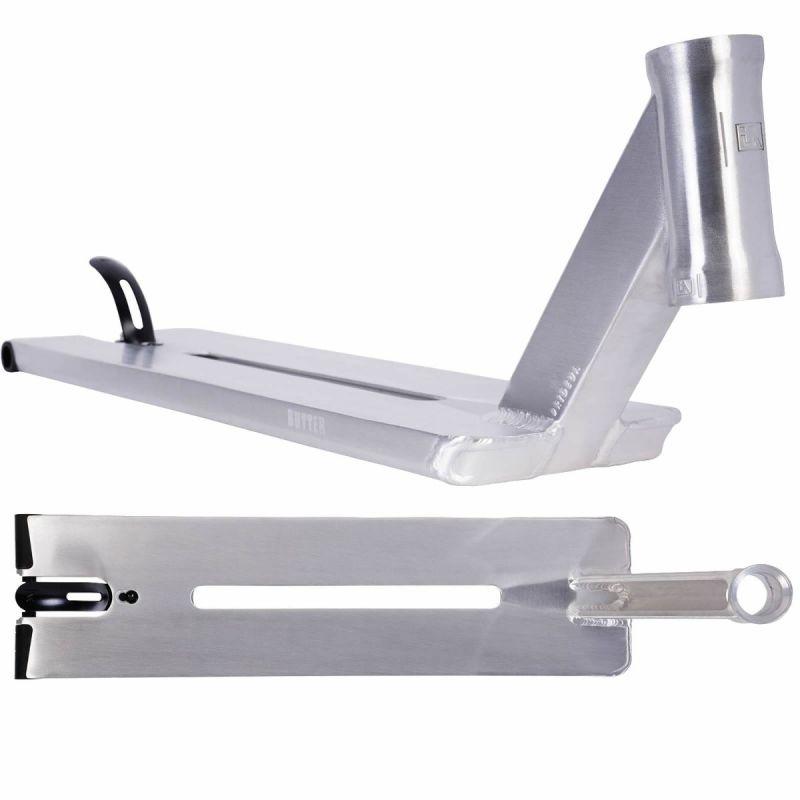 """Urbanartt Butter Scooter Deck - Raw Stone Chrome Silver - 21"""" x 5.5"""""""