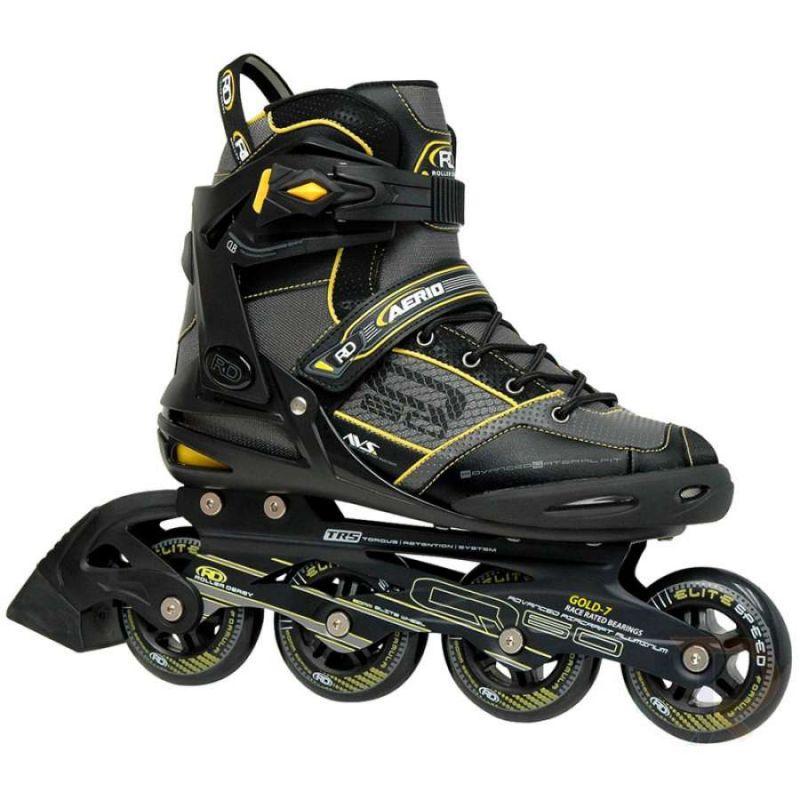 B-STOCK Roller Derby Aerio Q-60 Inline Skates - Black / Yellow UK7 / EU41