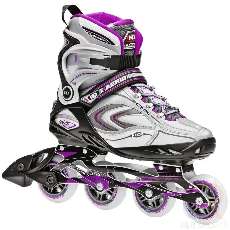 B-STOCK Roller Derby Aerio Q-80 Inline Skates - Silver / Purple UK7