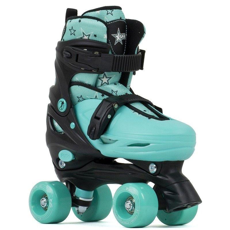 B-STOCK SFR Nebula Adjustable Quad Skates - Green UK1-4