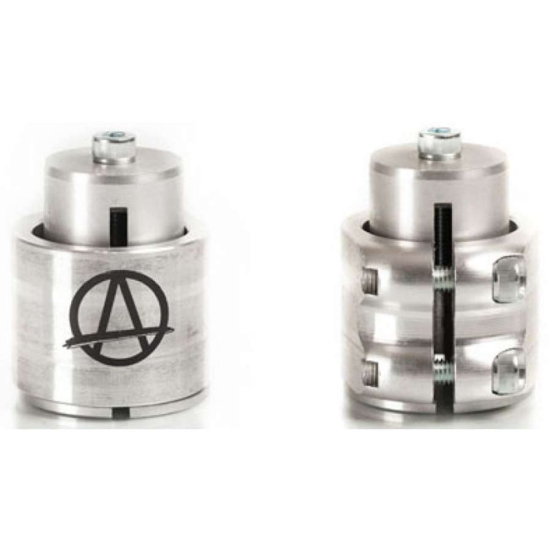 Apex Raw Silver Double Scooter Clamp & HIC Kit