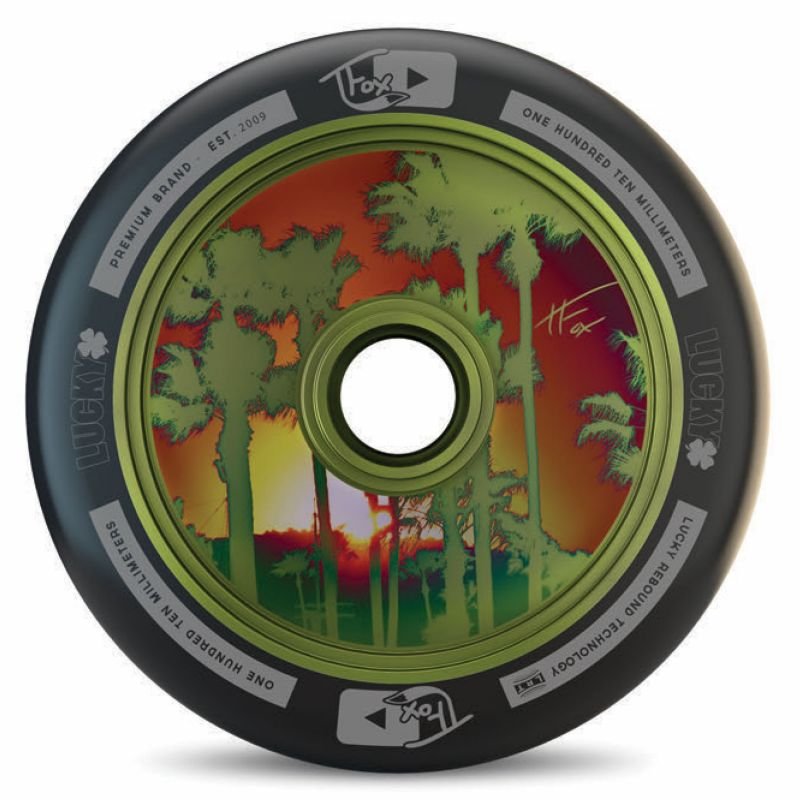 Lucky Tanner Fox Tfox Signature 110mm Black Green Scooter Wheel