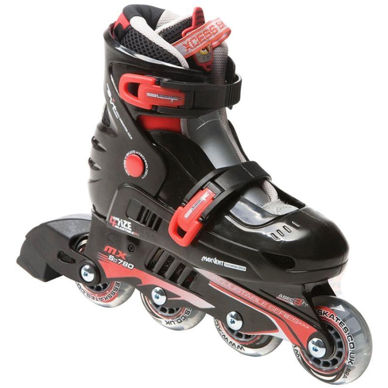 Xcess Skates MX S780 Adjustable Black Red Inline Skates / Rollerblades