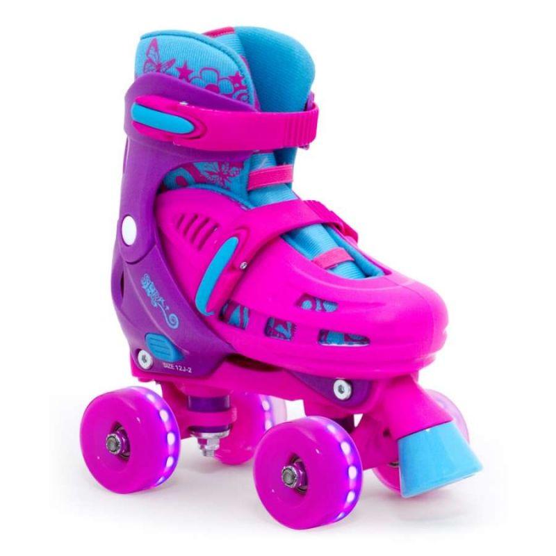 SFR Lightning Hurricane Quad Roller Skates - Pink