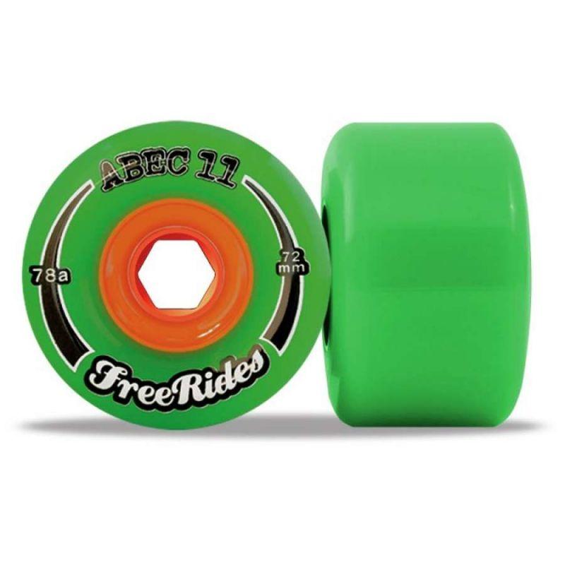 ABEC 11 FreeRides 72mm Longboard Wheels x4