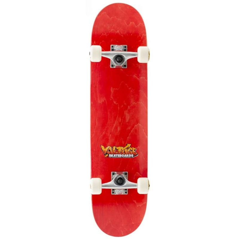 Voltage Graffiti Logo Red Complete Skateboard