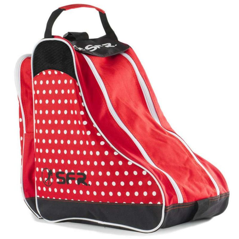SFR Designer Skates Bag - Red Polka