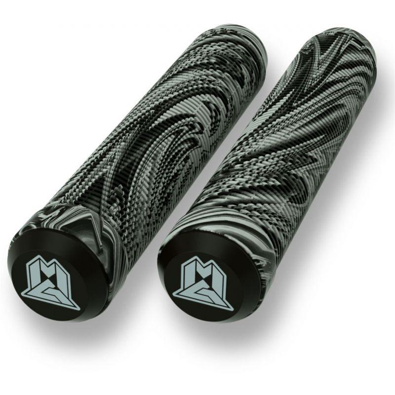 Madd MGP 180mm Swirl Grind Scooter Grips - Grey / Black