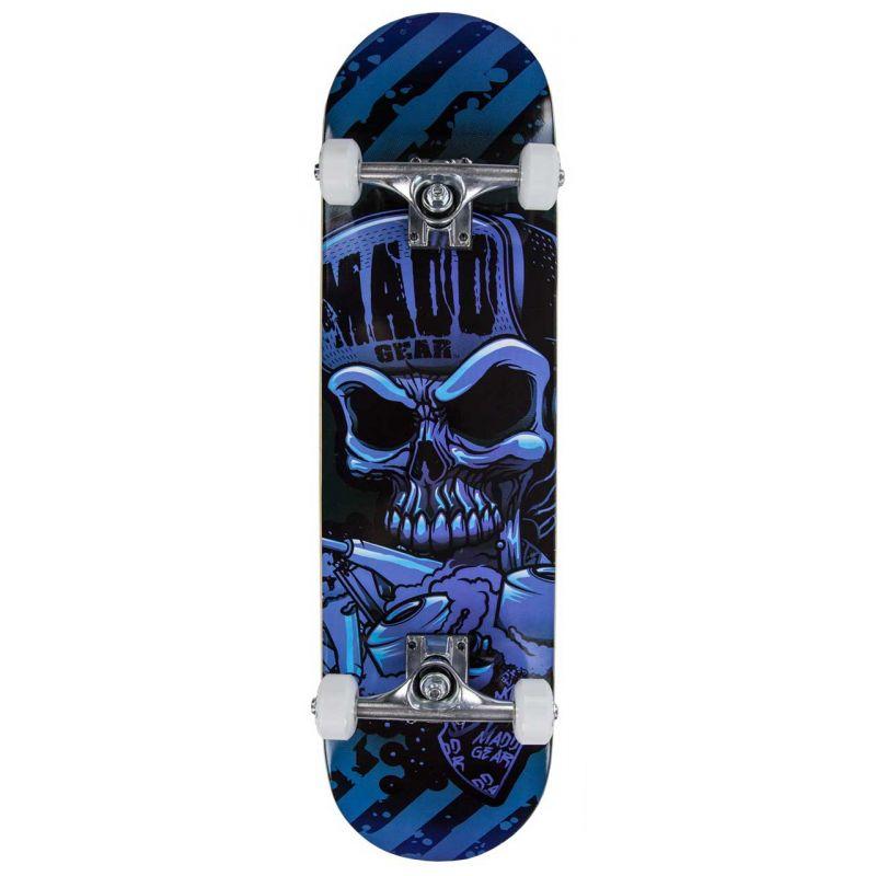 "B-STOCK Madd Gear MGP Pro Series Hatter Blue / Black Complete Skateboard – 31"" x 8"""