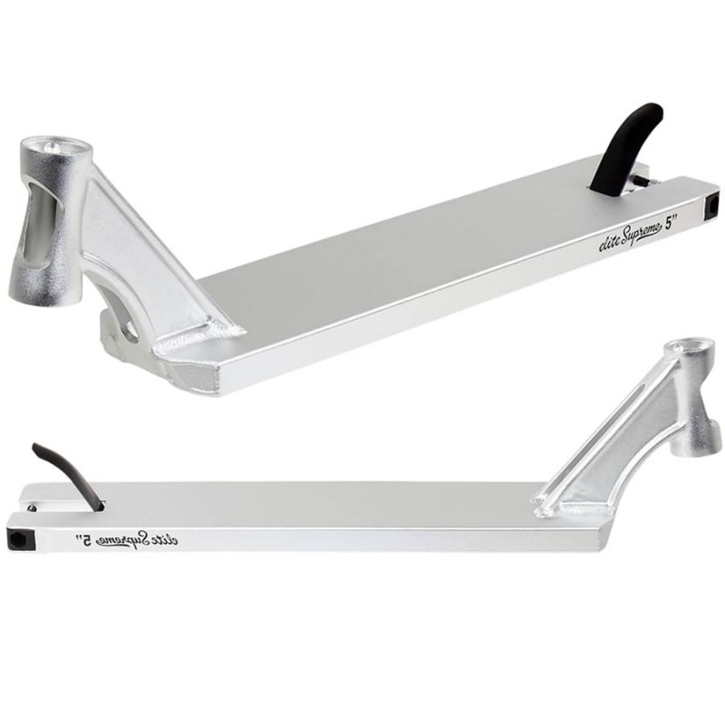 """Elite Silver Chrome 5.0"""" Inch Scooter Deck - 5"""" x 21.8"""""""