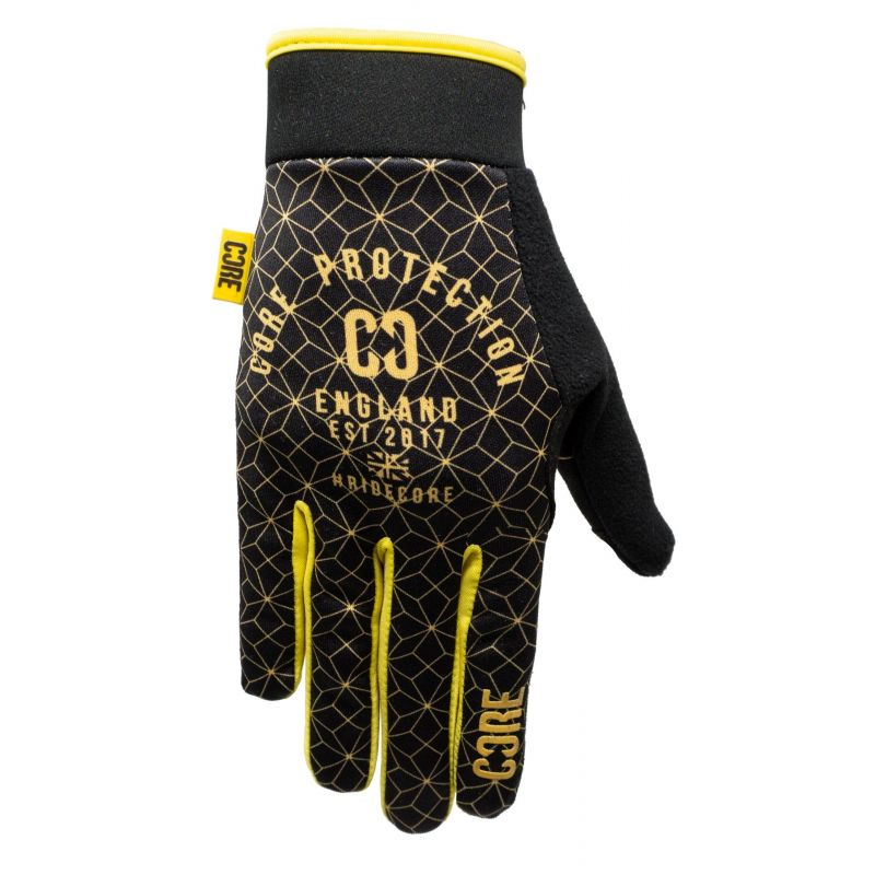 Core Protection Gloves SR - Black / Gold Geo