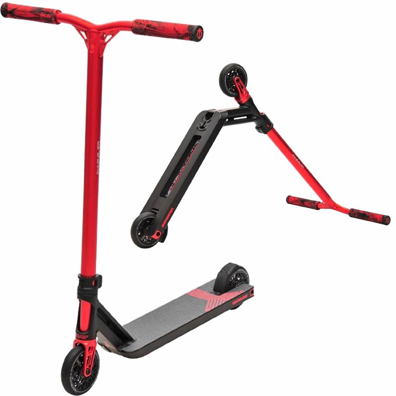 Triad Delinquent Complete Pro Stunt Scooter - Anodised Black / Red