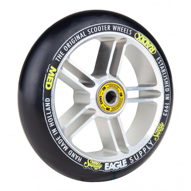 Eagle Sport Radix 5D 1-Layer 115mm Scooter Wheel - Silver / Black