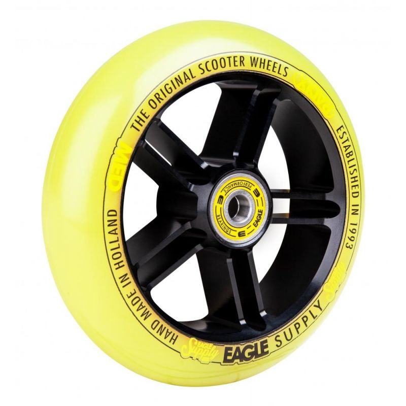 Eagle Sport Radix 5D 1-Layer 115mm Scooter Wheel - Black / Yellow