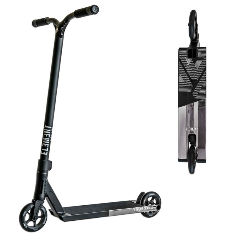 Drone Element Black Polished Silver Stunt Scooter